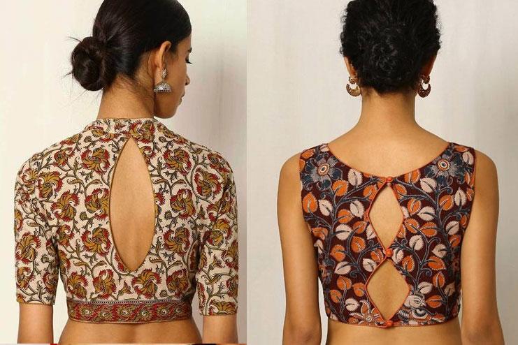 Back hole blouse