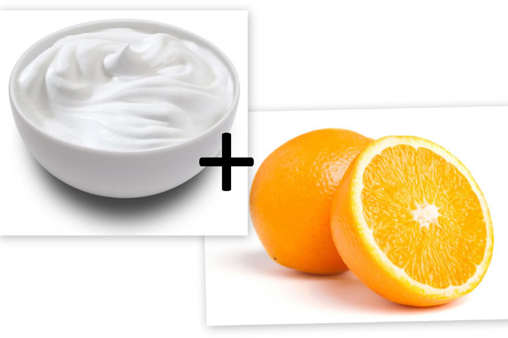 Orange peel and yogurt for skincare