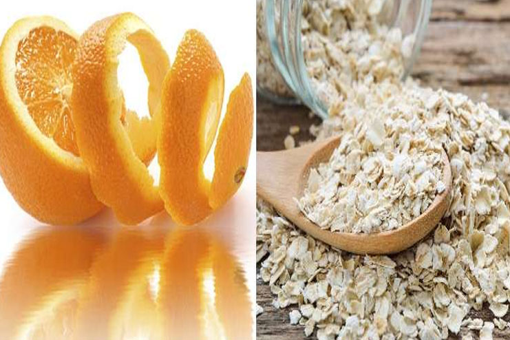 Orange peel and Oatmeal for Acne