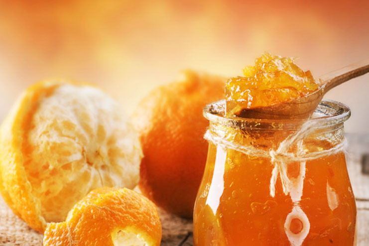Orange peel and honey
