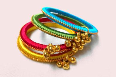 Silk Thread Bangles: A Simple DIY Tutorial for Silk Thread Bangles