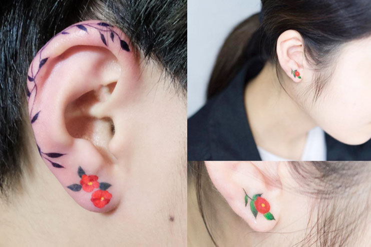 Earlobe Tattoo