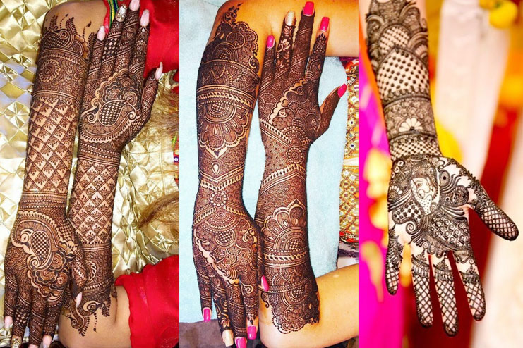 mehndi with less design