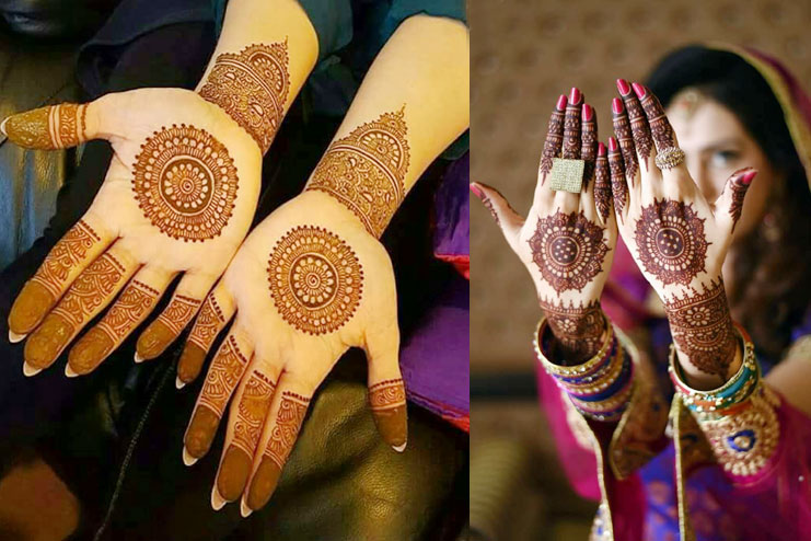 For brides who want minimal mehndi