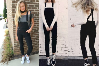 How To Style Those Chic Black Overalls, Effortlessly