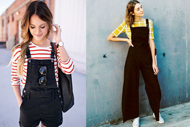 Black Overalls with some color