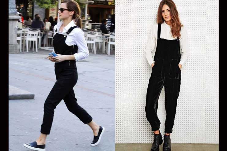 Black Overalls with a Shirt