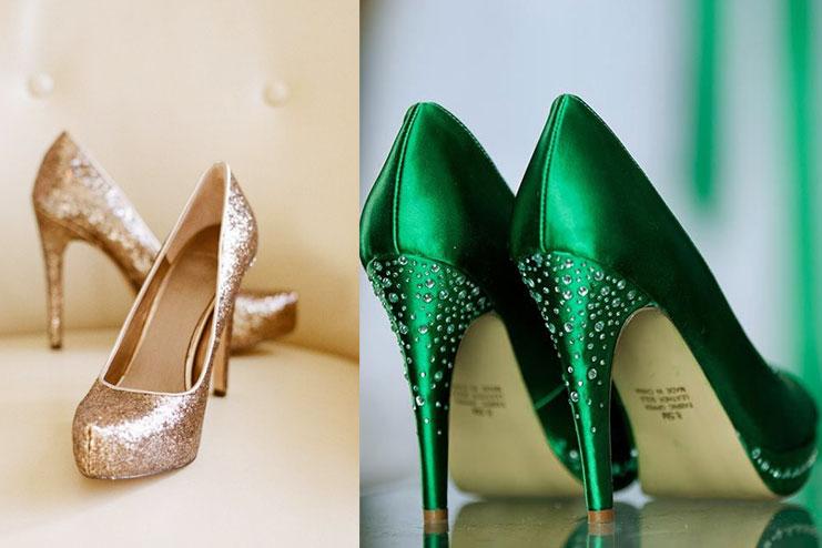 Shiny And Glittery Heels