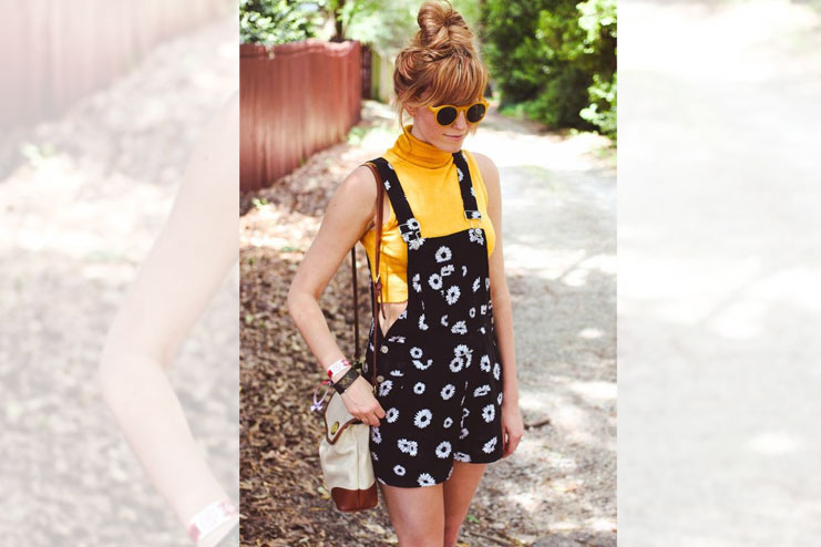 Crop top with slip dress style