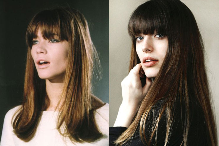 Bangs with straight hair