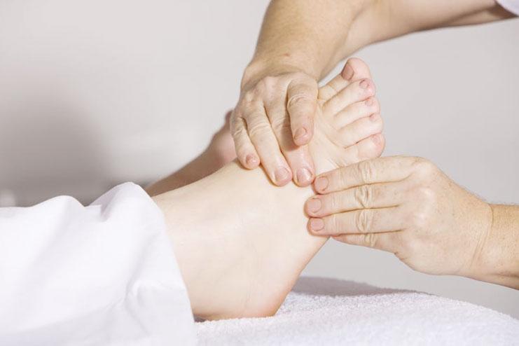 A foot spa at home