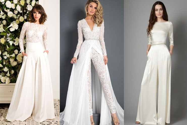 Gown with pants