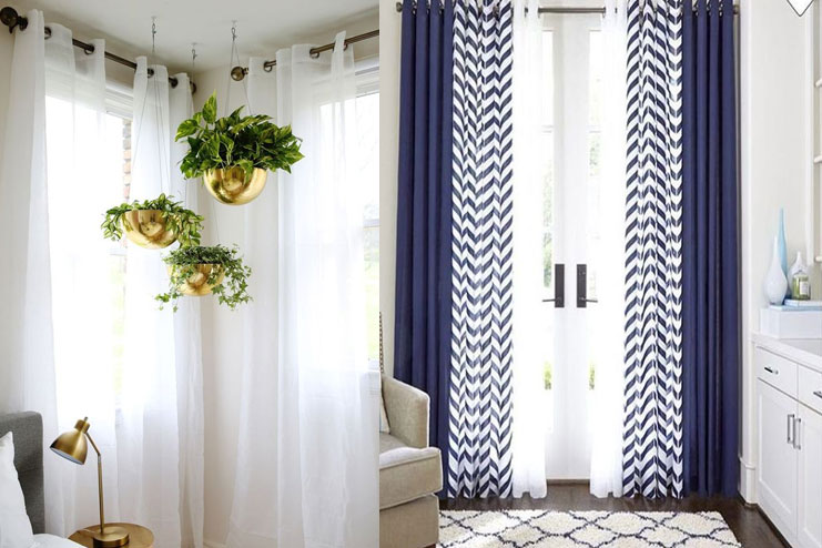 Say No to bold printed curtains