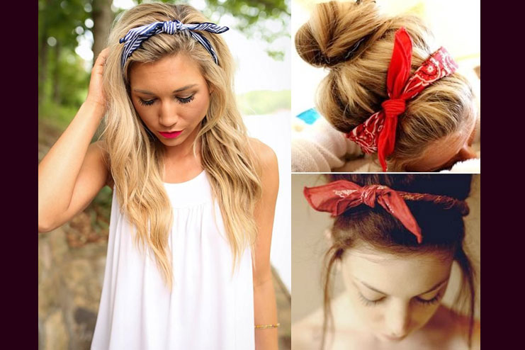 Creating a pin-up style headband