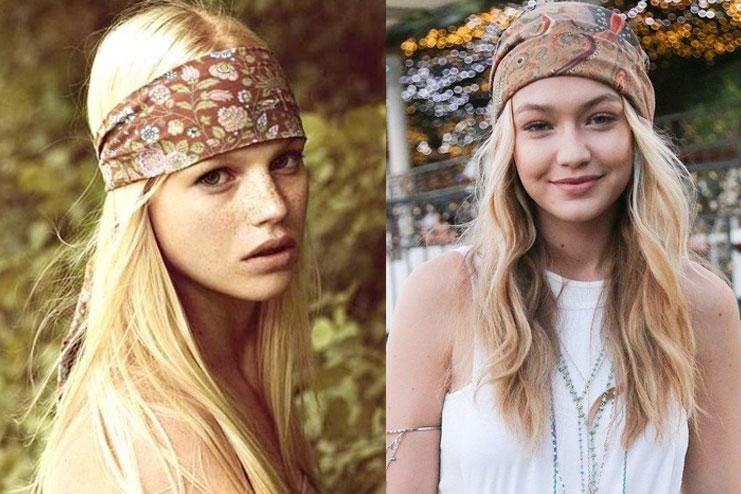 Headband in Hippie style