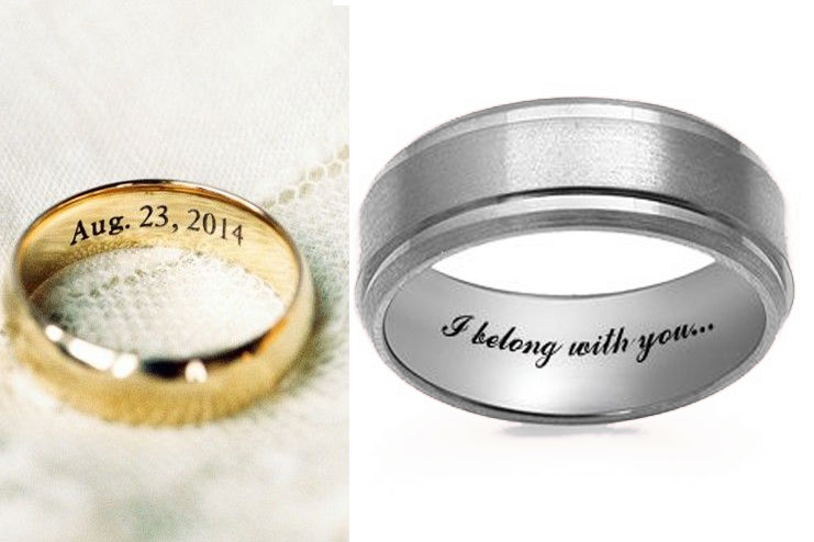 Rings engraved inside
