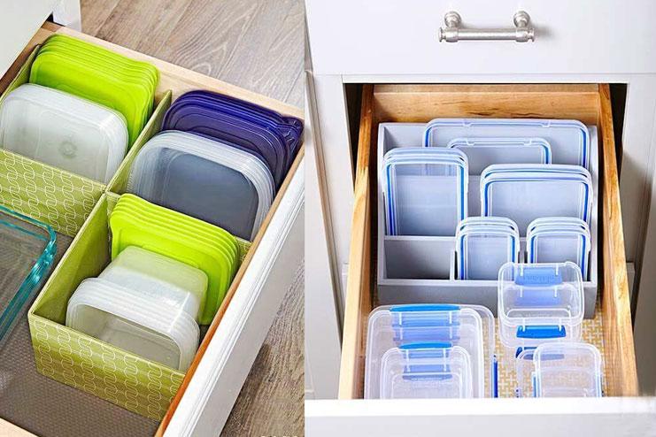 Organize Food Storage Boxes