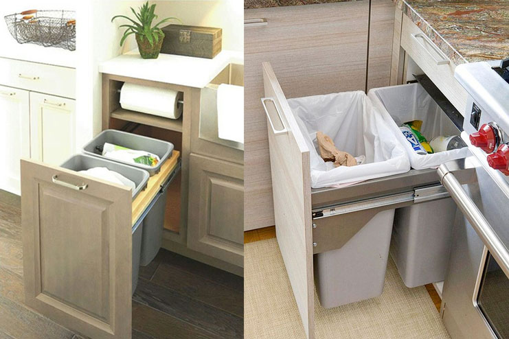Install a Concealed Trash Can