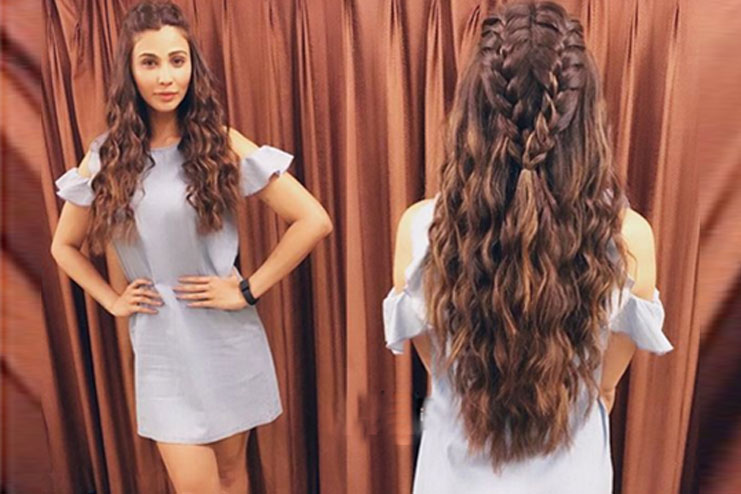 Double french Braid with curls