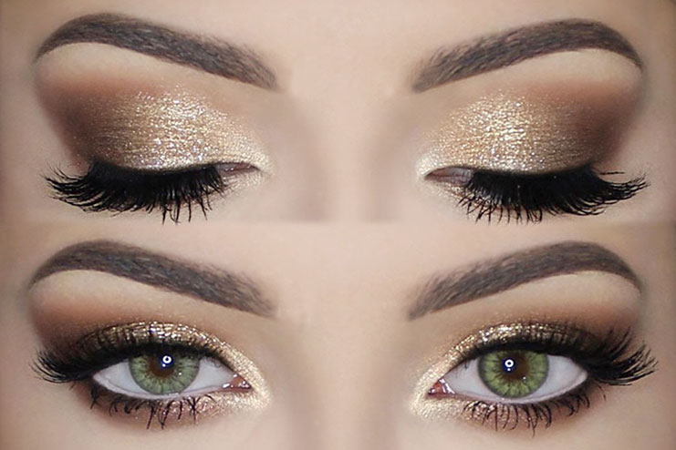 How To Apply Gold Eyeshadow Makeup Perfectly