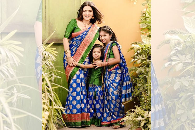 Indian Sari for mom daughter