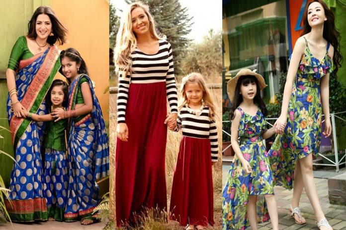 mom and daughter matching dresses