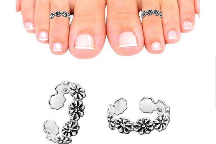Floral-toe-rings