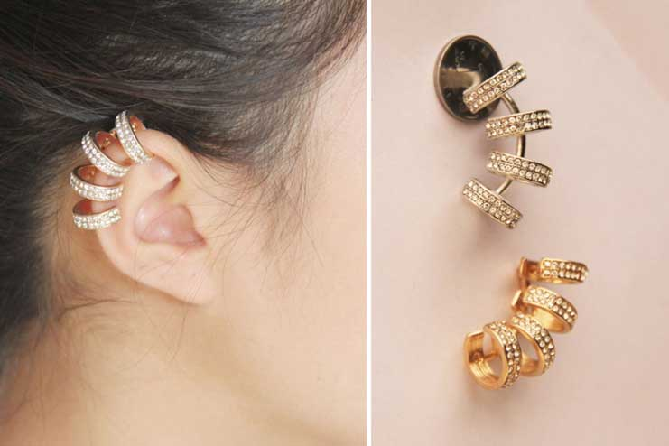 Multi-ring-ear-cuffs