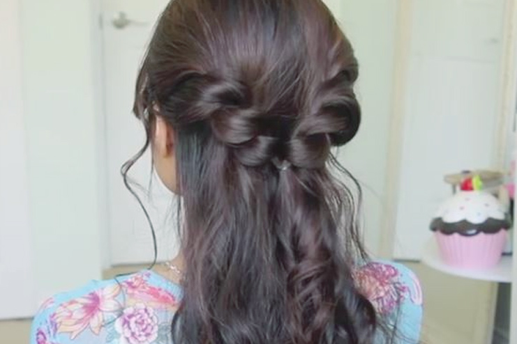 Twisted Braid Half Updo
