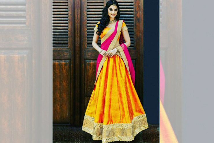 Half saree with lehenga