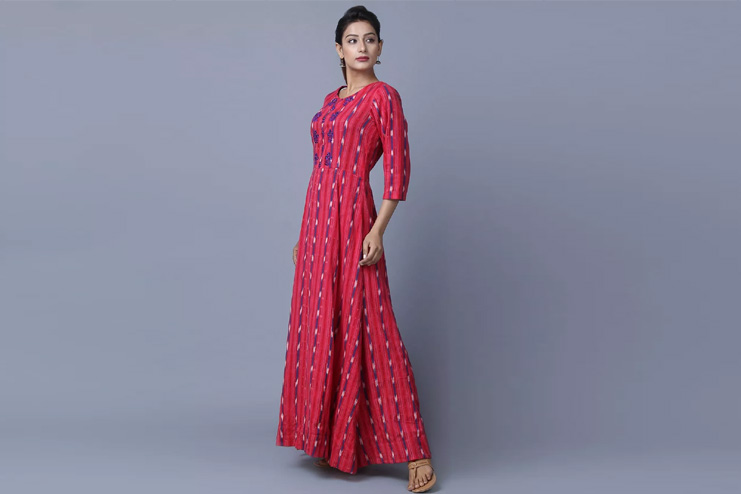 Ikat-Gown