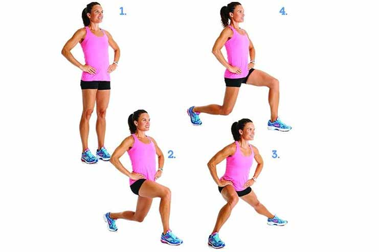 Around the clock lunges