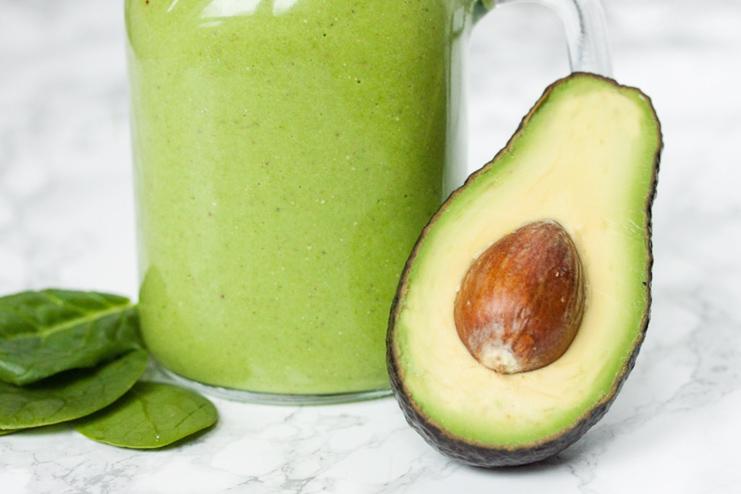 Avocado and aloe smoothie