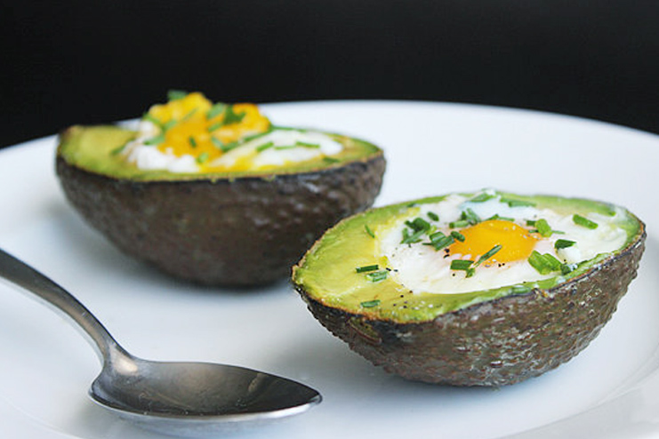 Avocado with egg