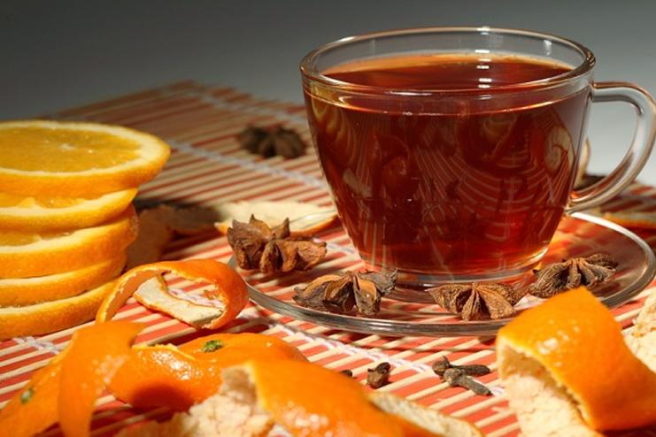 Orange peel detox tea