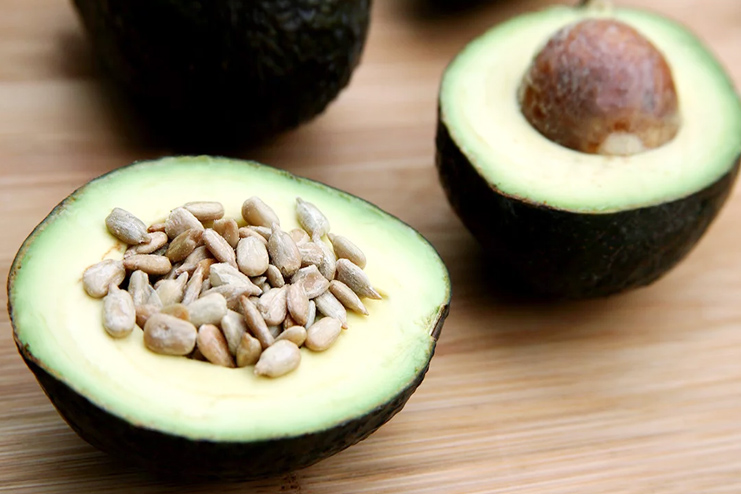 Two ingredient snack with avocado