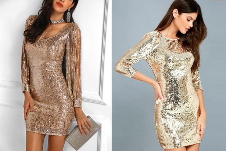 Golden bodycon dress