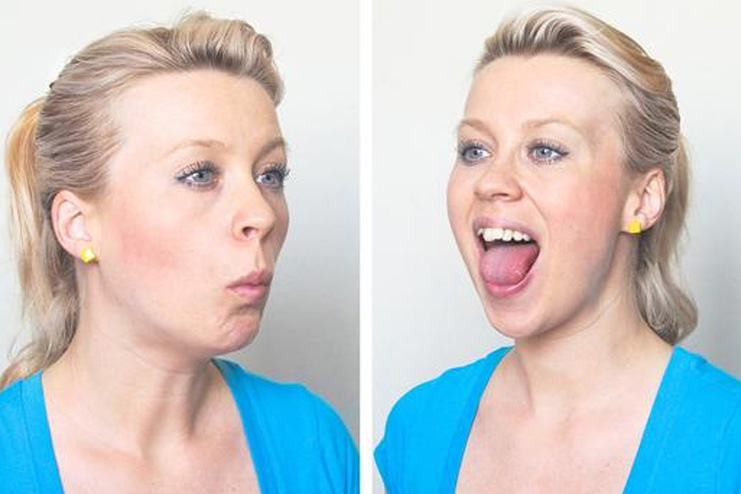Jaw Chewing exercise