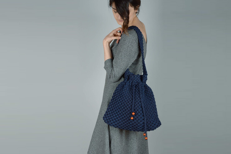 Macrame bag for daily