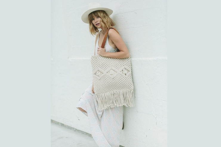 Macrame bag with casual