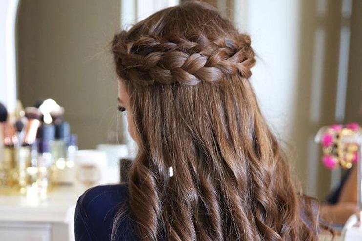 Layered-crown-braids