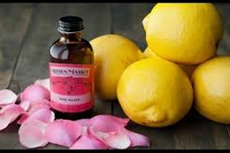 Lemon and Rose Water For Spectacle Marks