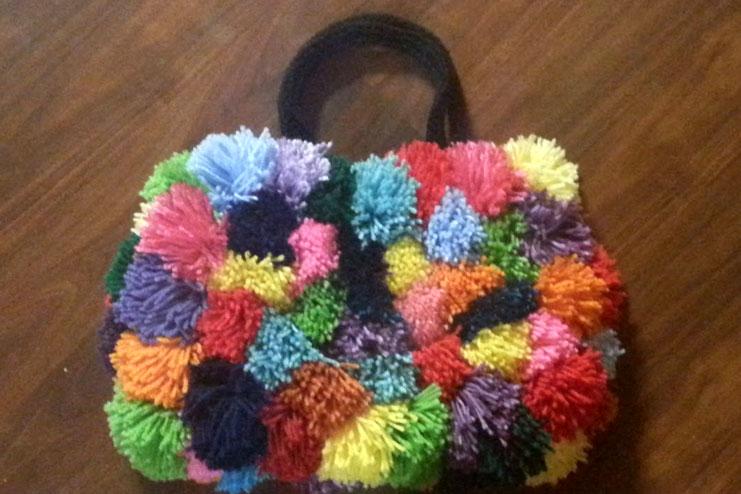 Pom-Pom Handmade bags