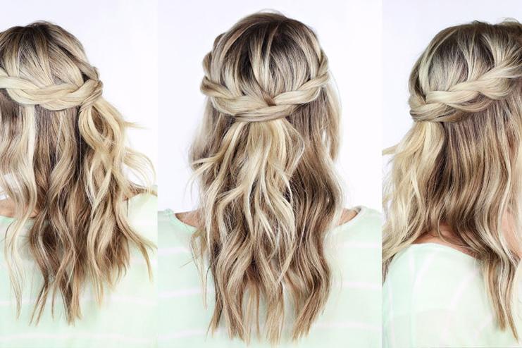 Twisted-crown-braid