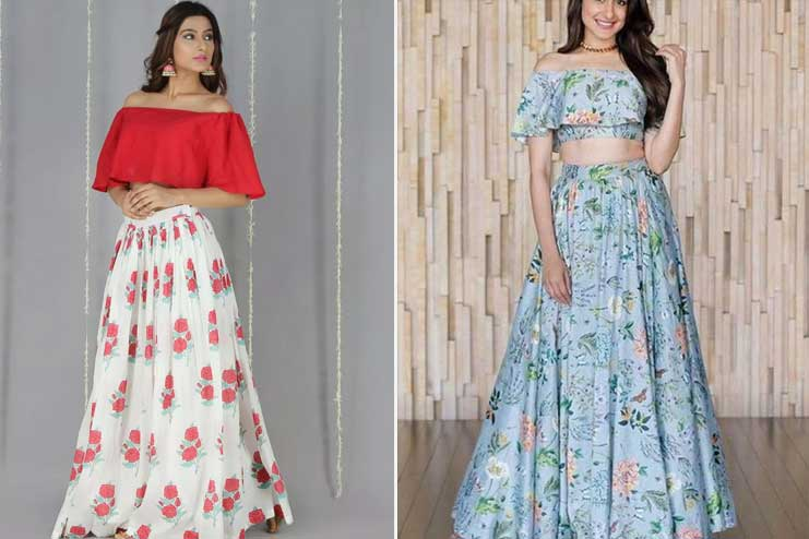 Off-shoulder-with-a-long-skirt