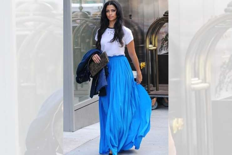 Tee-with-a-pleated-long-skirt