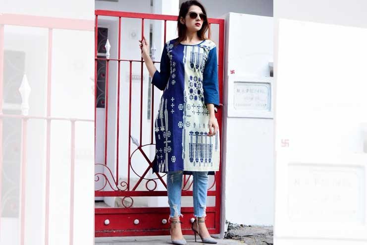 Cotton-Kurti-with-Jeans